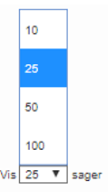 Billede af ISB-funktionen Antal sager